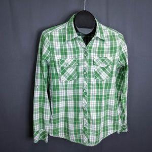 Natural Reflections Top Shirt Size Medium Green